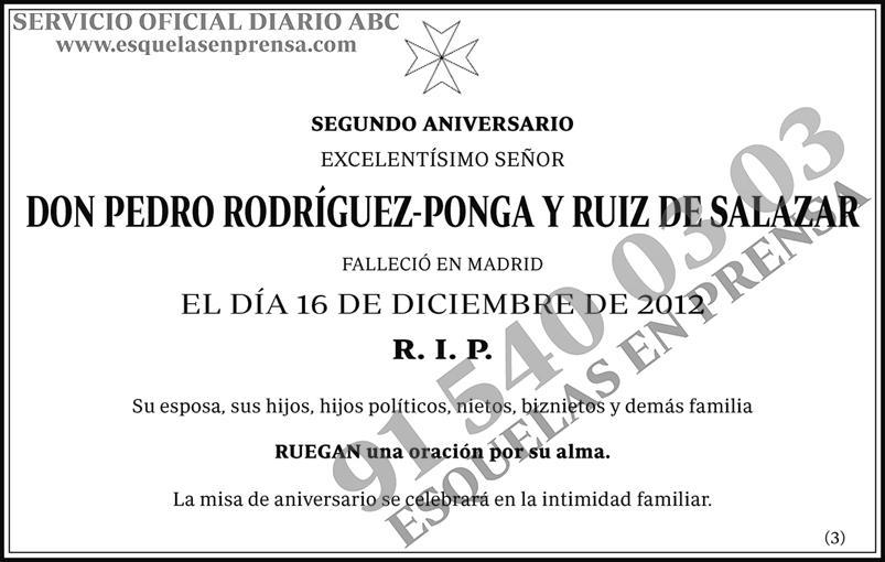 Pedro Rodríguez-Ponga y Ruiz de Salazar